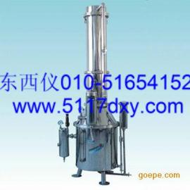#不锈钢塔式蒸汽重蒸馏水器*
