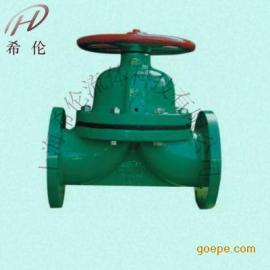 G41J堰式手动衬胶隔膜阀