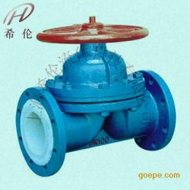 G41F手动堰式衬氟隔膜阀