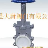 浙江大唐牌PZ73TC手动陶瓷耐磨刀型闸阀,陶瓷浆液阀