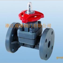 CPVC塑胶隔膜阀G41F-6S隔膜阀