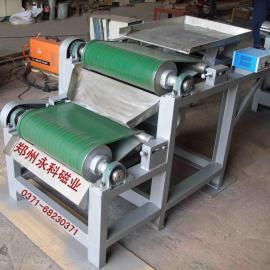 郑州永科加工定制磁选机 铁矿磁选机 强磁干式磁选机双滚