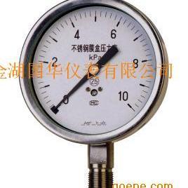 不锈钢膜盒压力表