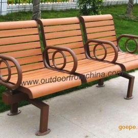 户外休闲椅,户外公园椅,实木椅
