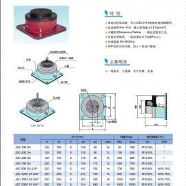 水泵气垫式避震器,冰水主机气垫式避震器,高速冲床避震器
