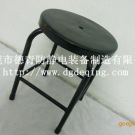 可定做流水线专用防静电工作椅子,防静电22管四脚加固圆凳