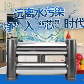 双子星净水器中央厨房管道全屋直饮机不锈钢家用卧式超滤纯水机