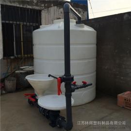 【产品供应】淮安15吨耐酸碱水塔/15吨立式水塔/15立方平底水塔