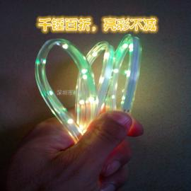 LED充电鞋灯 七彩充电式鞋灯 USB充电闪光鞋灯