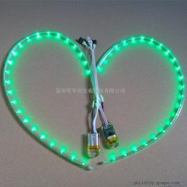硬质套管防水LED鞋底灯 usb充电鞋底灯条
