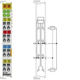 倍福KL3041 1/2 通道回路供电输入端子模块