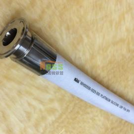 耐高温高压聚酯网增强硅胶软管 符合3A制药级标准型卫生软管