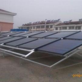 山东太阳能联箱,拉丝板联箱,不锈钢联箱太阳能热水工程
