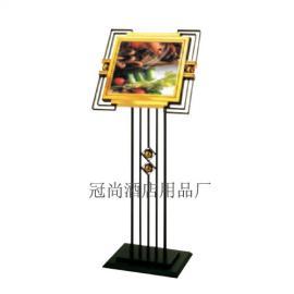 供应冠尚P-9黑金钢斜面指示牌 广告牌 立式礼宾牌