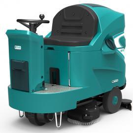 TVX大型驾驶式洗地机T150 大面积地面清洁用洗地机