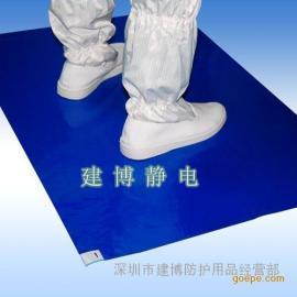 蓝色高粘PE机房粘尘垫脚踏粘尘垫粘尘地板胶除尘地垫60*90CM