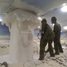 祯华化工聚脲地坪涂料喷涂万达广场雪山场景