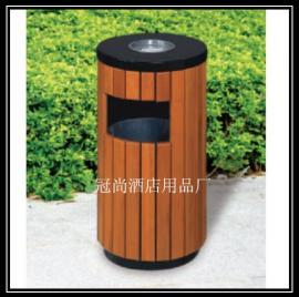 【供应】GPX-58公园圆形垃圾桶 塑木垃圾桶 果皮桶
