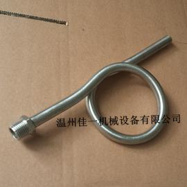 温州出产不锈钢压力表弯管(一端外螺纹一端焊接口)