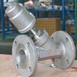 全不锈钢蒸汽气动角座阀