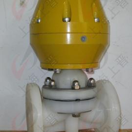 PVDF气动法兰隔膜阀