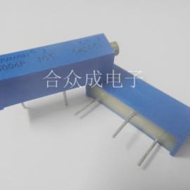多圈电位器 3006电位器 3006可调电阻 插件电位器