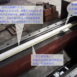 邹城曲阜莱阳X轴4米龙门铣床磁栅尺数显改造三轴铣床数显改造