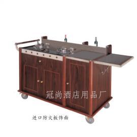 双头豪华鲍鱼车(石面板)送餐车 煮餐车