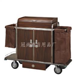 【供应】C-85客房服务车(钢木结构) 酒店双边客房服务车