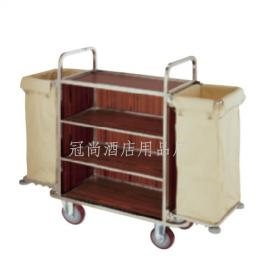 厂家直销 C-39客房服务车(钢木结构)双面客房服务车 手推车