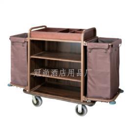 厂家直销C-8A客房服务车(可拆装)布袋推车 布草车