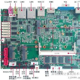 迷你贴片内存工业主板,板载DDR3 2G内存工控主板,