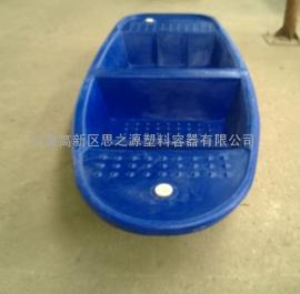 厂家直供全国各地养殖2.5米塑料小船 养殖船耐撞击寿命长