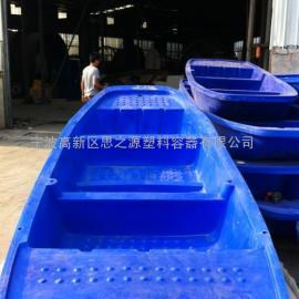 厂家供应3米渔船双层牛筋材质特厚塑料小船捕鱼船特大养殖