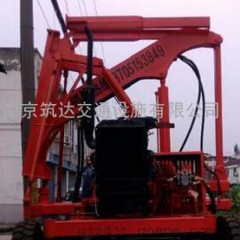 南京筑达牌YD型液压打桩机之公路护栏打桩机
