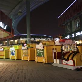 郑州广场售货花车,郑州景区商业街售货亭
