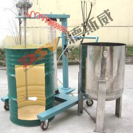 55盎司吹气起落拌配桶盖/厂家直销吹气起落拌和机