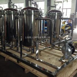不锈钢多级过滤器,不锈钢双联过滤器,并联袋式过滤器系统