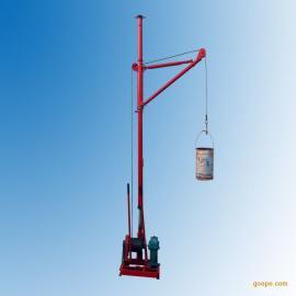 高层吊土吊沙子装修上料吊机30米60米70米高度220伏电机