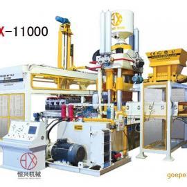 矿渣制砖机 尾矿废渣制作生产线 恒兴静压砖机