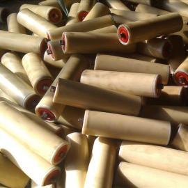 化工厂用优质耐摩擦500皮带机尼龙托辊橡胶缓冲托辊