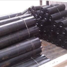 厂家大量批发优质橡胶缓冲托辊双向螺旋橡胶托辊