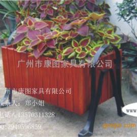 德兴热销户外实木组合花箱 铸铁脚木花箱 户外优质家具花坛花盆