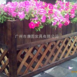 成都景区木花架、崇州市防腐木花箱、乐山市售楼处花箱