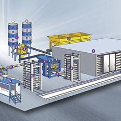 全自动砌块成型机生产线(单机)