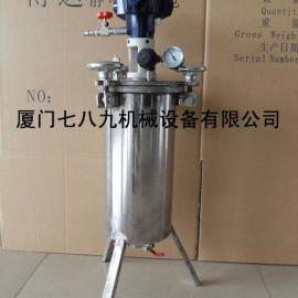 不锈钢压力桶、压力桶厂家直销、自动搅拌压力桶
