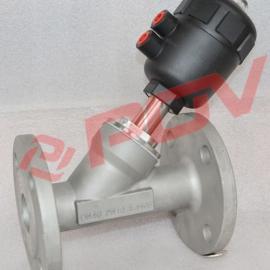 气动控制角座阀可用于蒸汽上