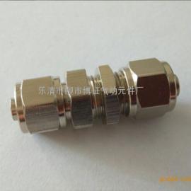 全铜快拧穿板接头 金属直通穿板快拧接头 穿板固定气管接头