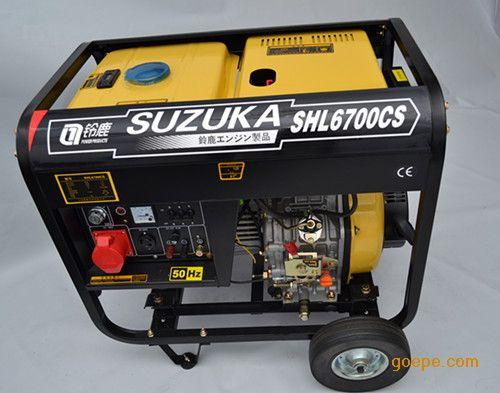 带电热被用单相柴油发电机5kw