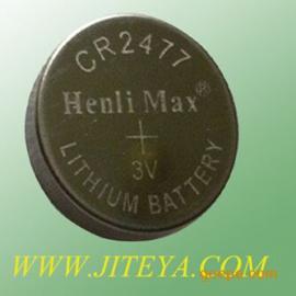供应矿井人员纽扣电池 CR2477电池厂家